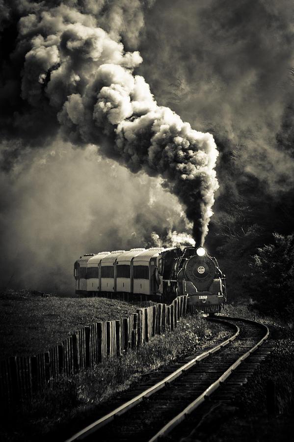 Steam Locomotive Photograph - Full Steam Ahead by Phil motography Clark