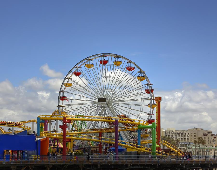 Fun At Santa Monica Pier Photograph