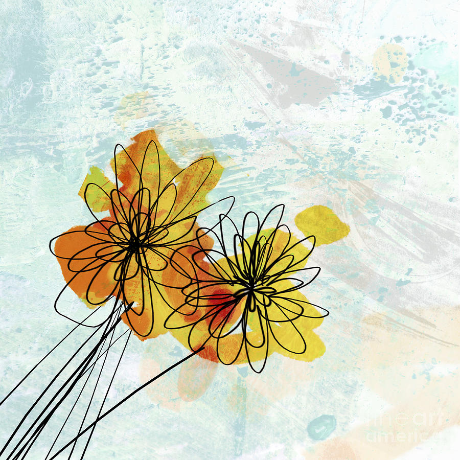 Flower Painting - Fun Flowers  by Ann Powell