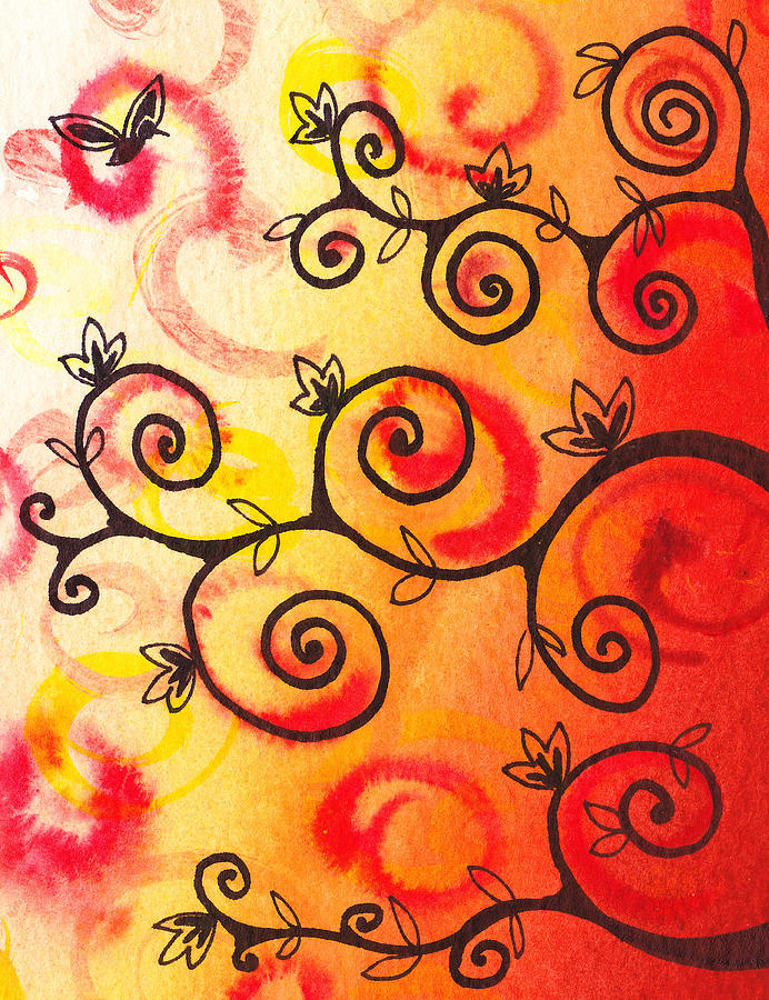 Tree Painting - Fun Tree Of Life Impression I by Irina Sztukowski