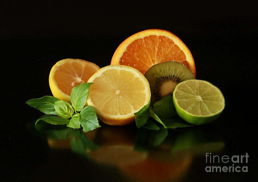 Fun With Citrus And Kiwi Fruit Photograph  - Fun With Citrus And Kiwi Fruit Fine Art Print