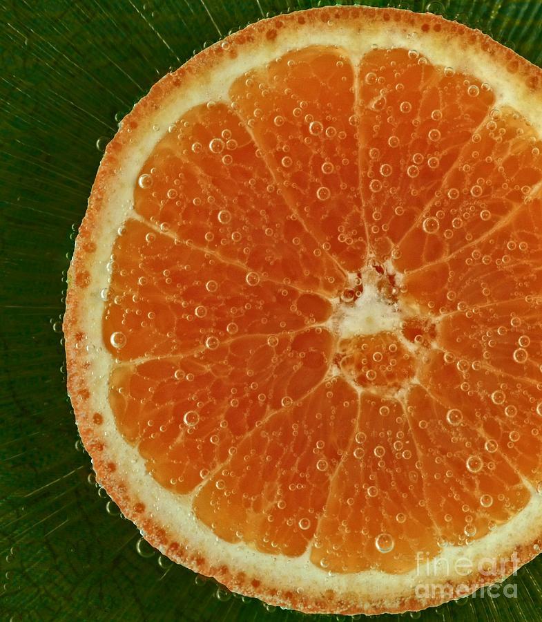 Fun With Fruit Orange Bubbles Photograph