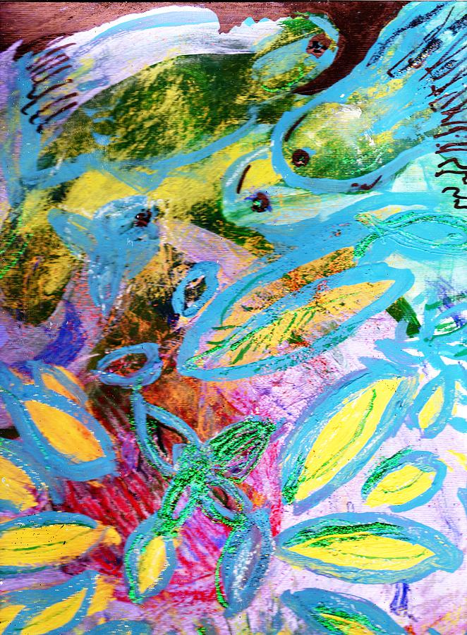 Fun With The Fishes Mixed Media