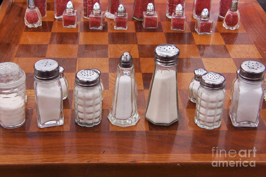 Funky Chess Set Photograph  - Funky Chess Set Fine Art Print