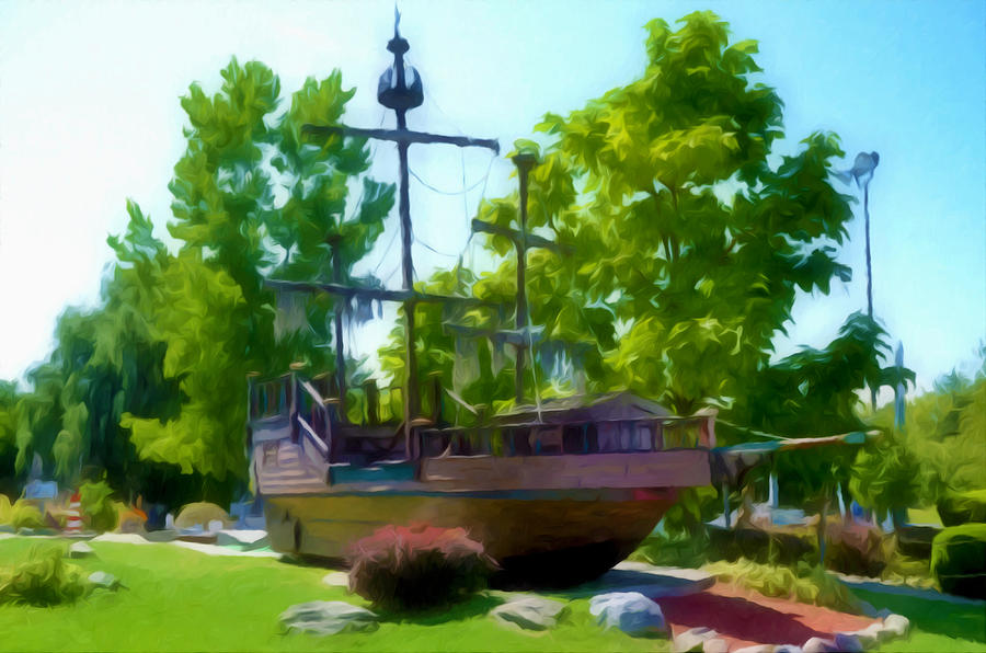 Funplex Funpark Boat 3 Painting