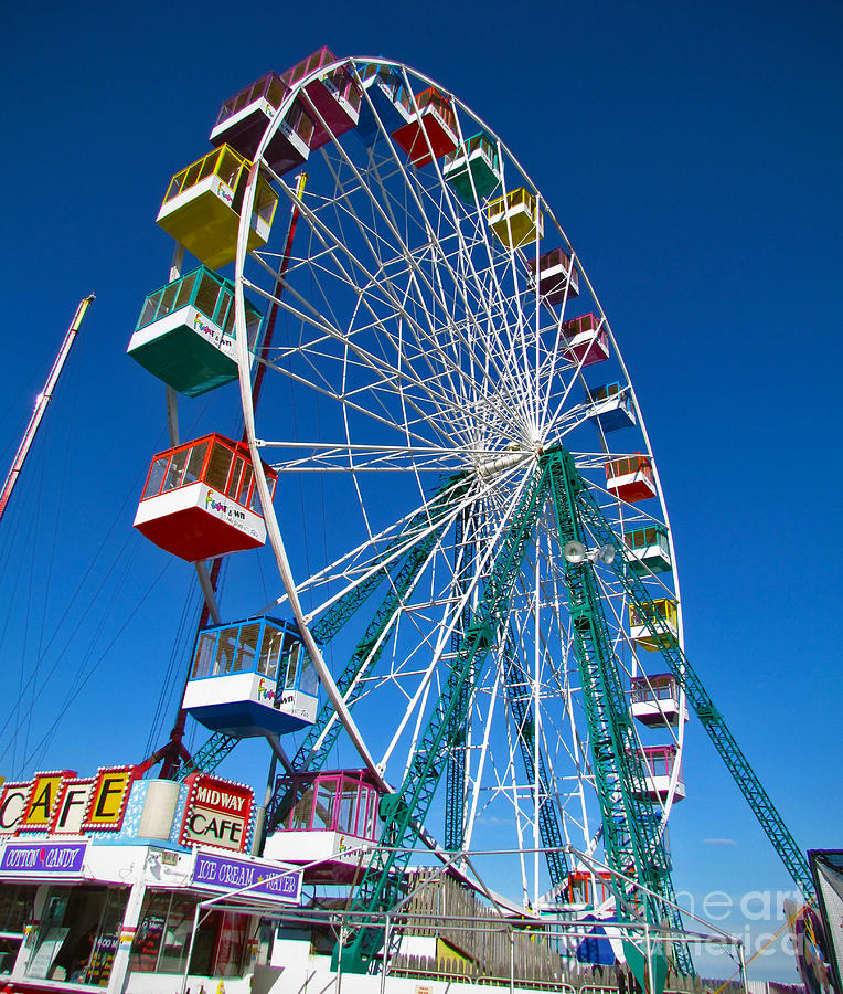 Funtown Ferris Wheel Photograph  - Funtown Ferris Wheel Fine Art Print