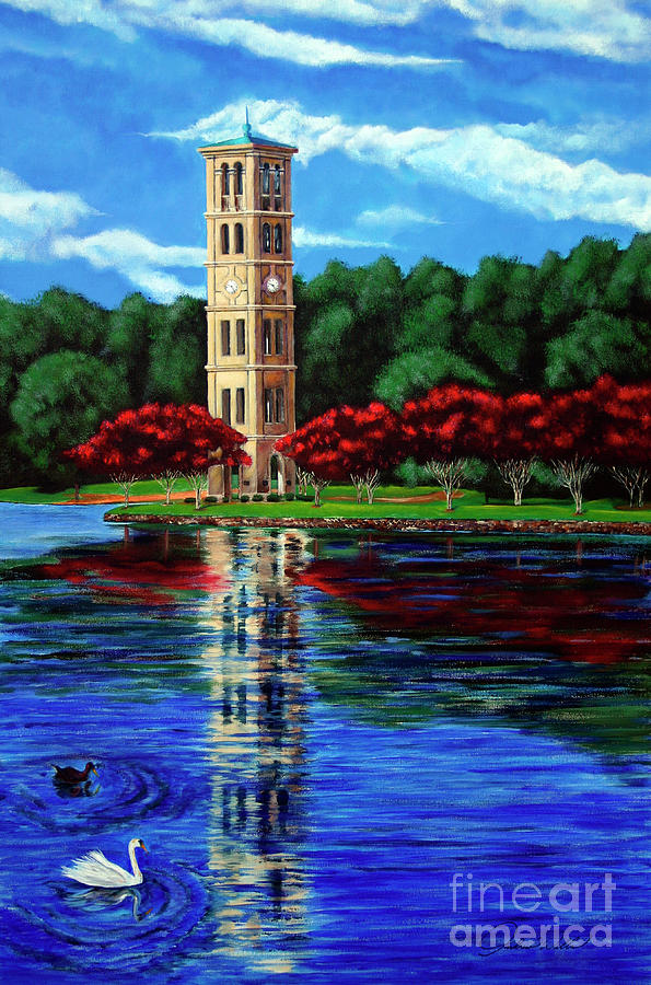 Furman Tower Painting