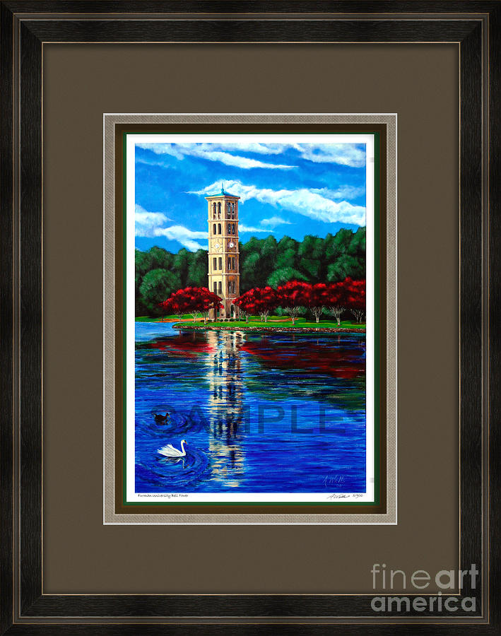Furman Tower Custom Framed Print For Sale - Direct From The Artist - Sold.  Painting