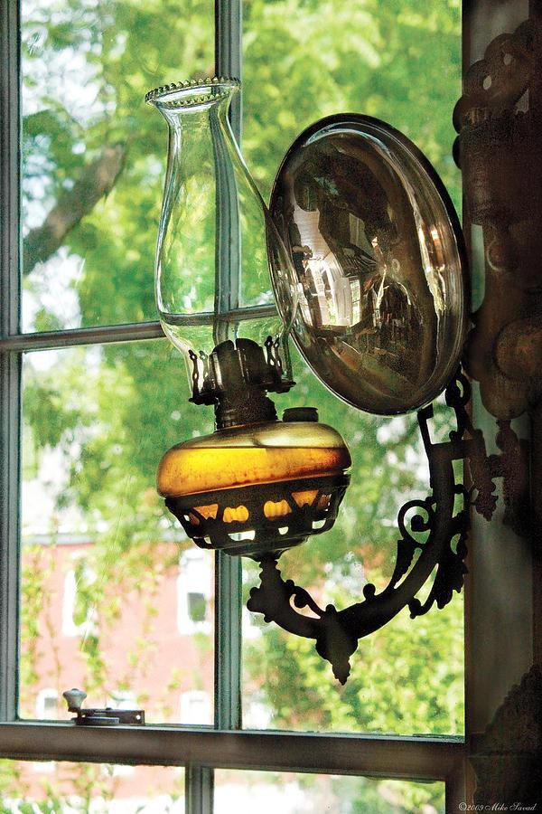 Savad Photograph - Furniture - Lamp - An Oil Lantern by Mike Savad