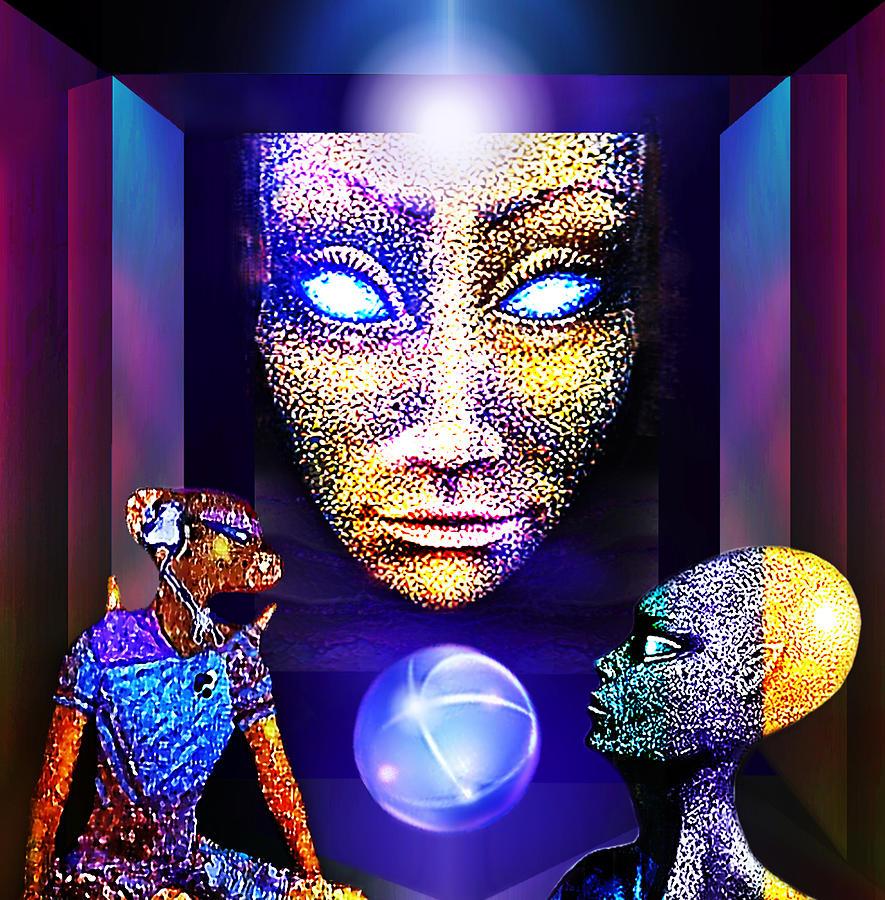 Aliens Digital Art - Future Land by Hartmut Jager
