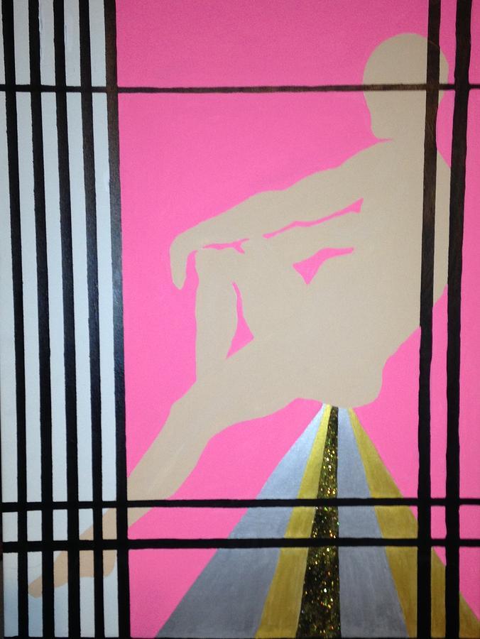 Jail Painting - Futurhistic by Erika Chamberlin