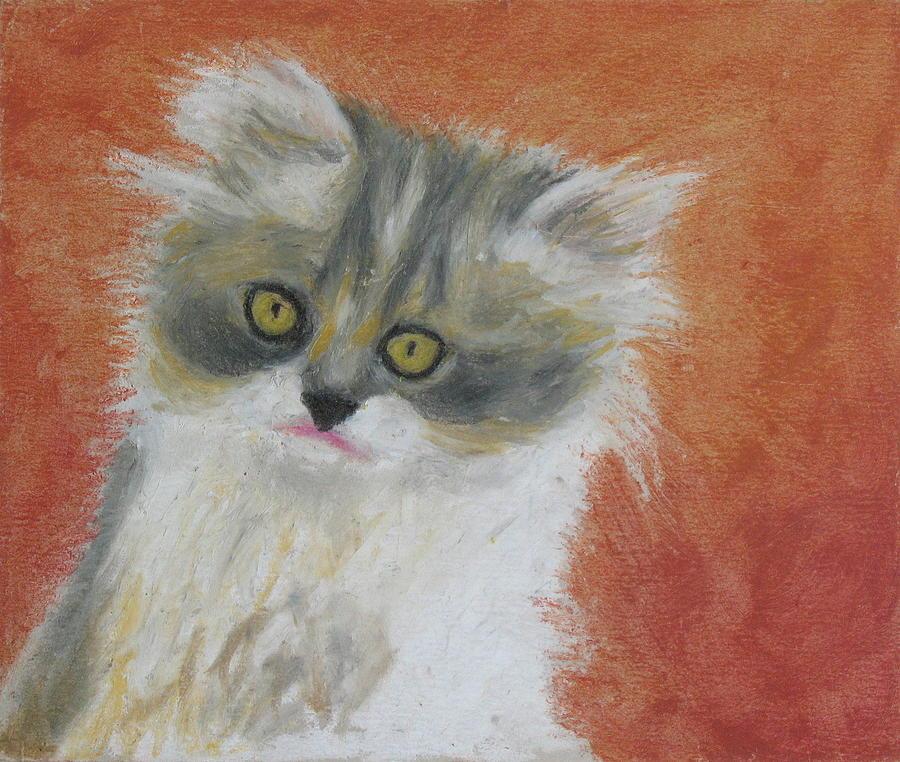 Fuzzy Kitten Painting