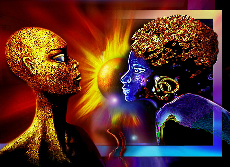Sisters Painting - Galactic  Sisters by Hartmut Jager
