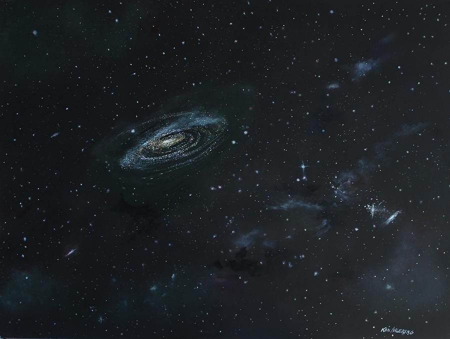 Space Painting - Galaxy by Ken Ahlering