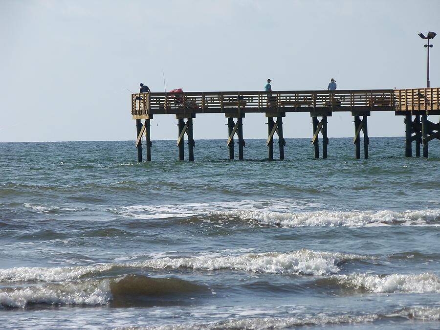 Galveston fishing pier photograph by lawrence hess for Galveston pier fishing