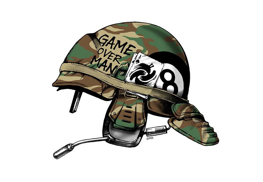 Game Over Man Digital Art