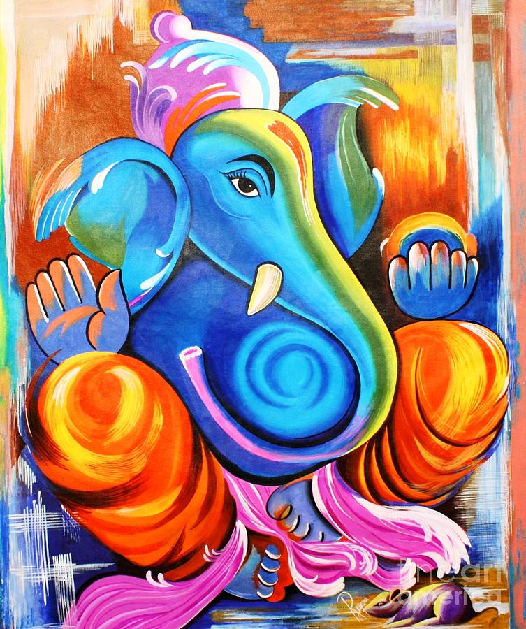 ganesha paintings modern art - photo #22