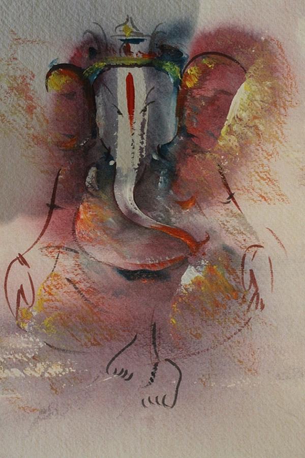 Paintings Painting - Ganesha 5646 by Sir