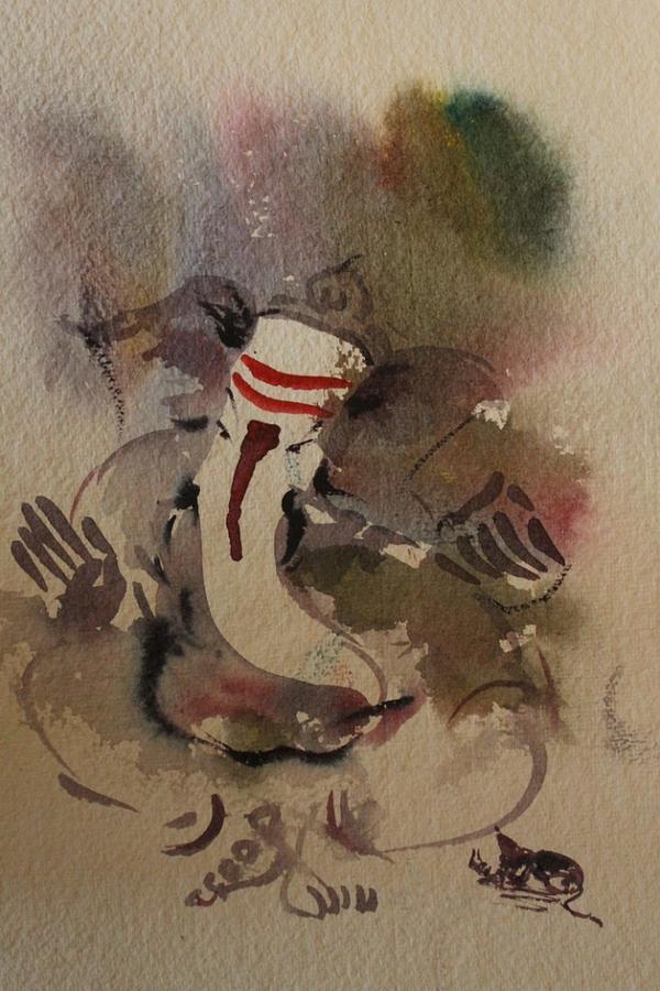 Paintings Painting - Ganesha 7564 by Sir
