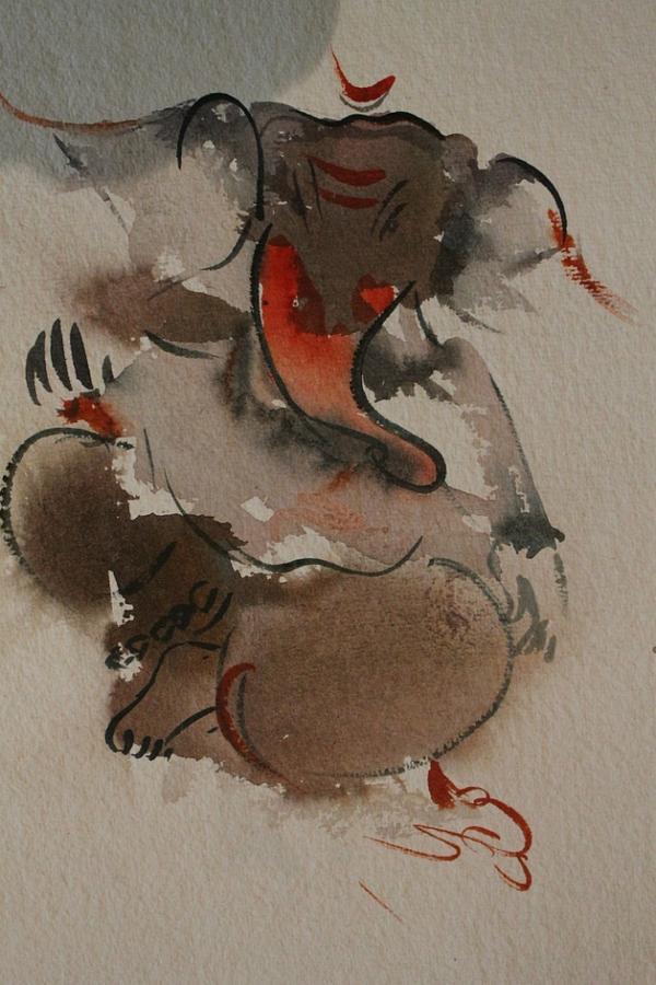 Paintings Painting - Ganesha 876 by Sir