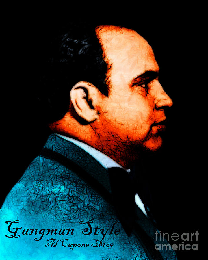 Gangman Style - Al Capone C28169 - Black - Painterly Photograph