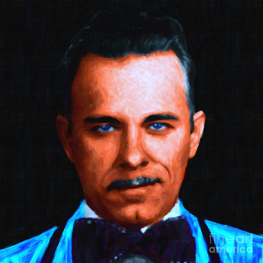 Gangnam Photograph - Gangman Style - John Dillinger 13225 - Black - Painterly by Wingsdomain Art and Photography