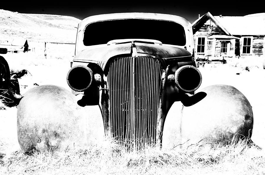 Ghost Town Photograph - Gangster Car by Cat Connor