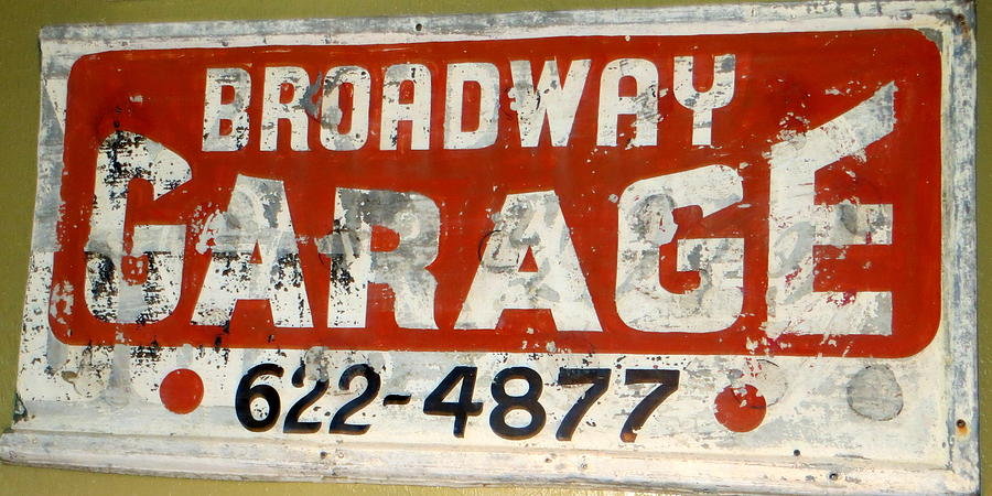 Sign Photograph - Garage Grunge by Dorothy Menera