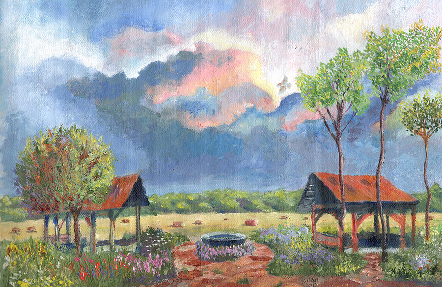 Garden Before The Storm Painting  - Garden Before The Storm Fine Art Print