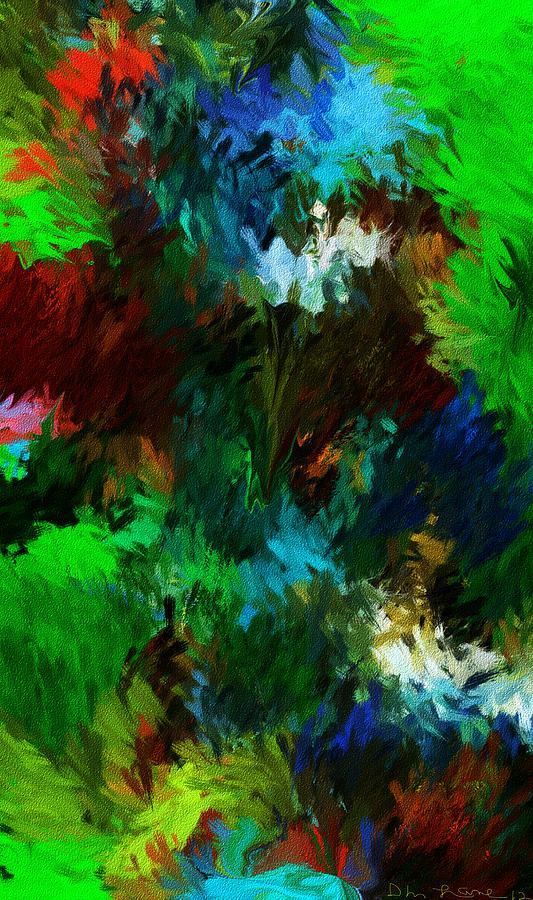 Fine Art Digital Art - Garden In My Dream by David Lane