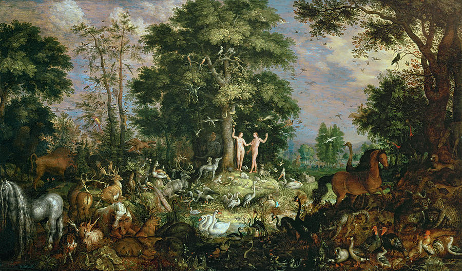 Garden Of Eden Painting by Roelandt Jacobsz Savery