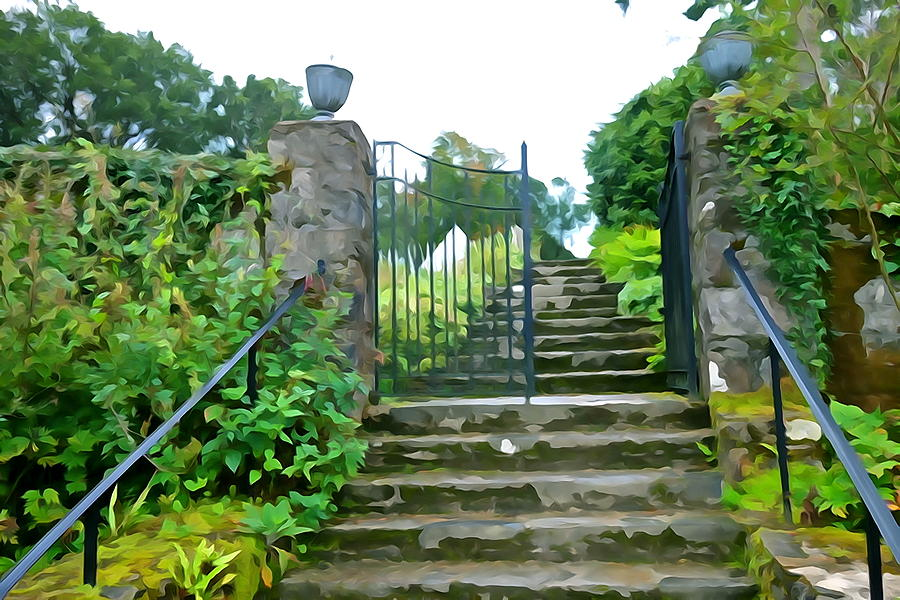 Garden Steps Photograph