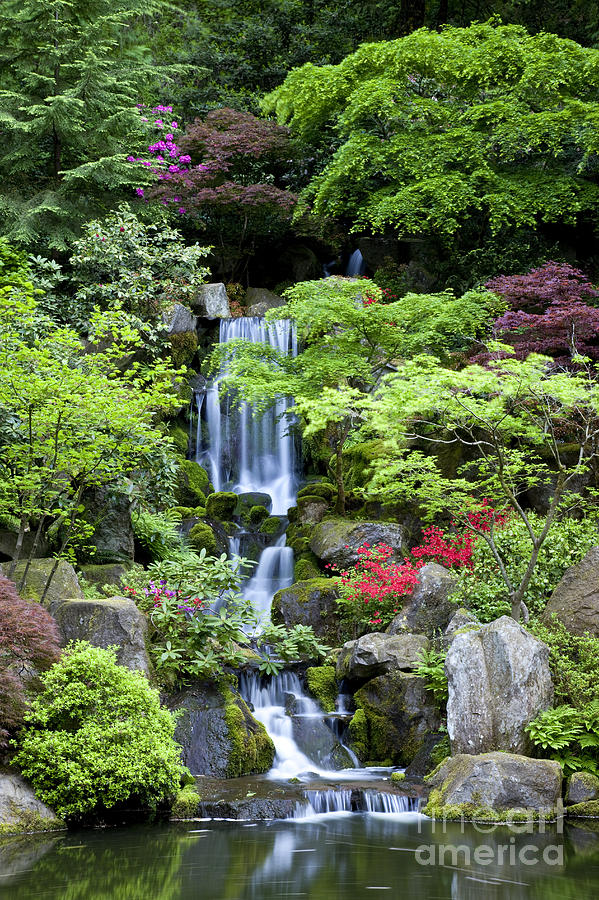 Garden Waterfalls Photograph by Brian Jannsen