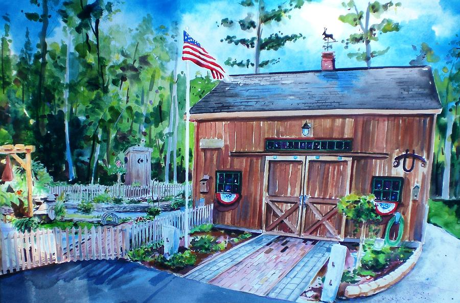 Gardening Shed Painting