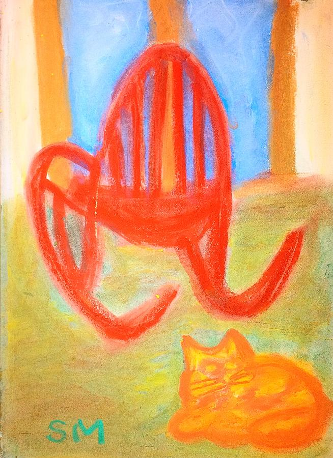 Garfie Rocking Chair And The Sky Painting