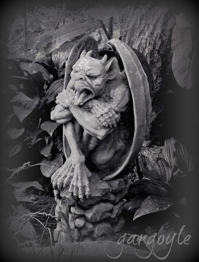 Statue Photograph - Gargoyle by Brenda Conrad