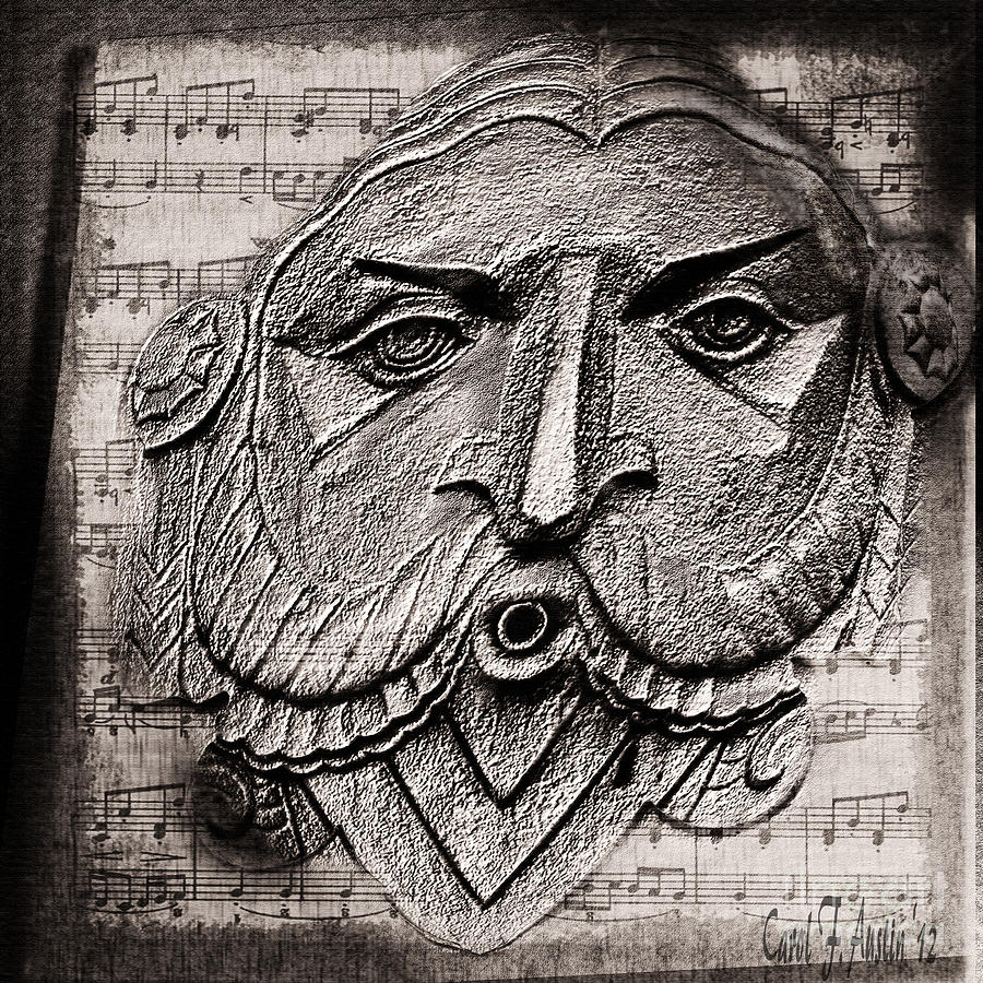 Gargoyle Whistles A Happy Tune Photograph  - Gargoyle Whistles A Happy Tune Fine Art Print