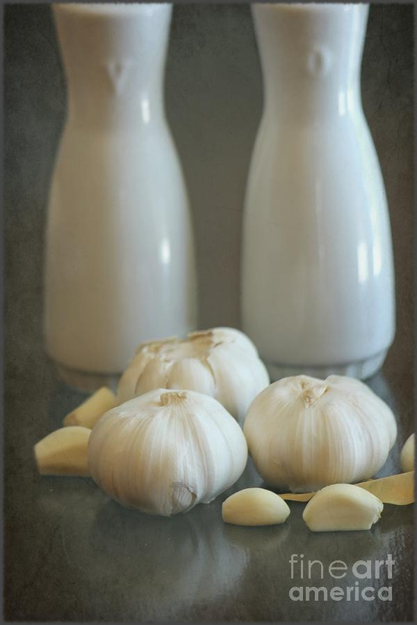 Garlic Vinegar And Oil Photograph  - Garlic Vinegar And Oil Fine Art Print