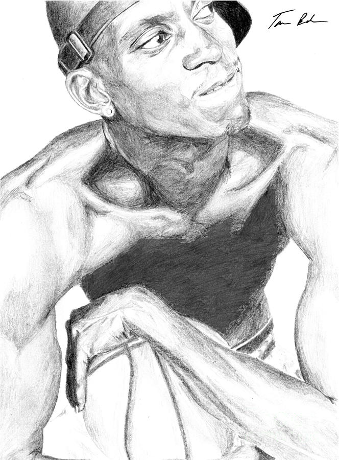 Garnett 2 Drawing  - Garnett 2 Fine Art Print