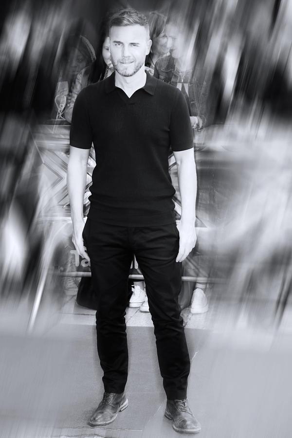 Jezcself Photograph - Gary Barlow 1 by Jez C Self