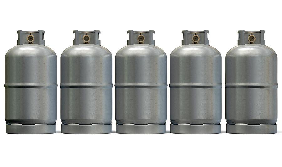 Gas Cylinder Row Digital Art
