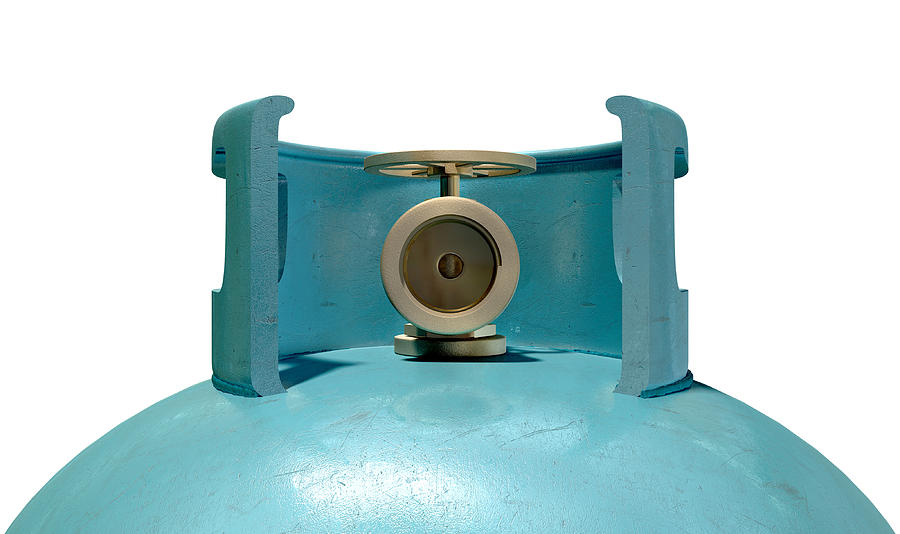 Gas Cylinder Valve Closeup Digital Art