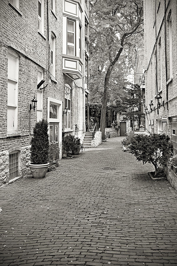 Gaslight Court Chicago Old Town Photograph