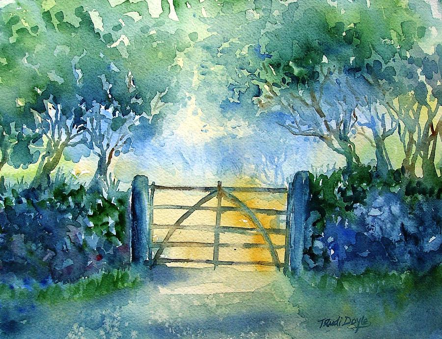 Gateway To The Harvest Field  Painting
