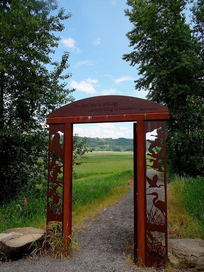 Steigerwald  National Wildlife Refuge Photograph - Gateway To The Trail by Lizbeth Bostrom