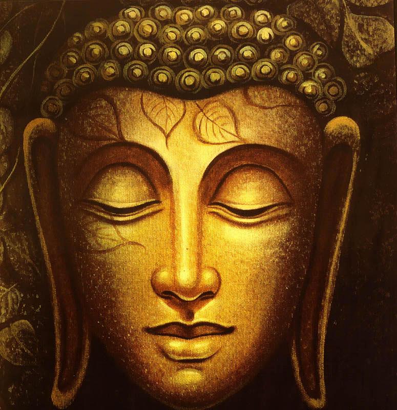 Gautam buddha painting by suprabha gupta for Buddha mural paintings