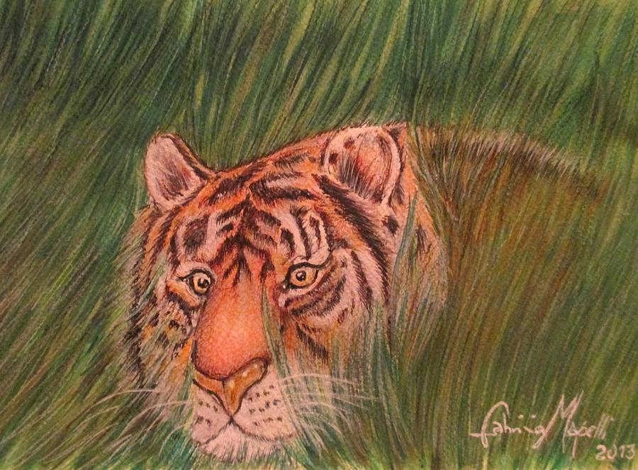 Tiger Painting - Gaze 2 by Fabrizio Mapelli
