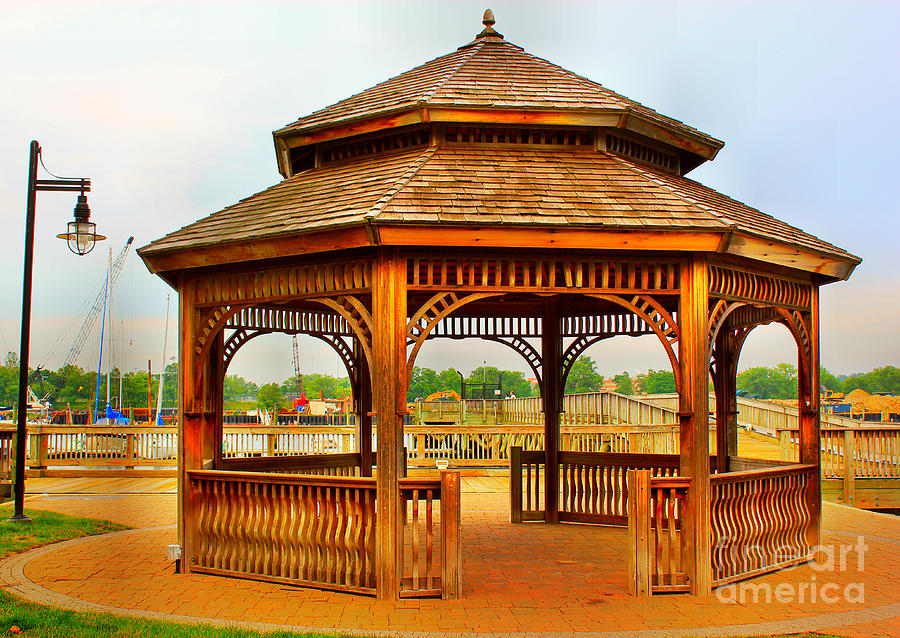Gazebo By The Water Photograph  - Gazebo By The Water Fine Art Print