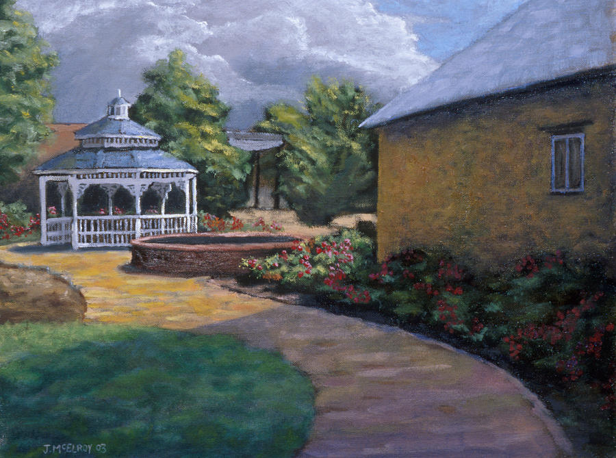 Gazebo In Potter Nebraska Painting  - Gazebo In Potter Nebraska Fine Art Print