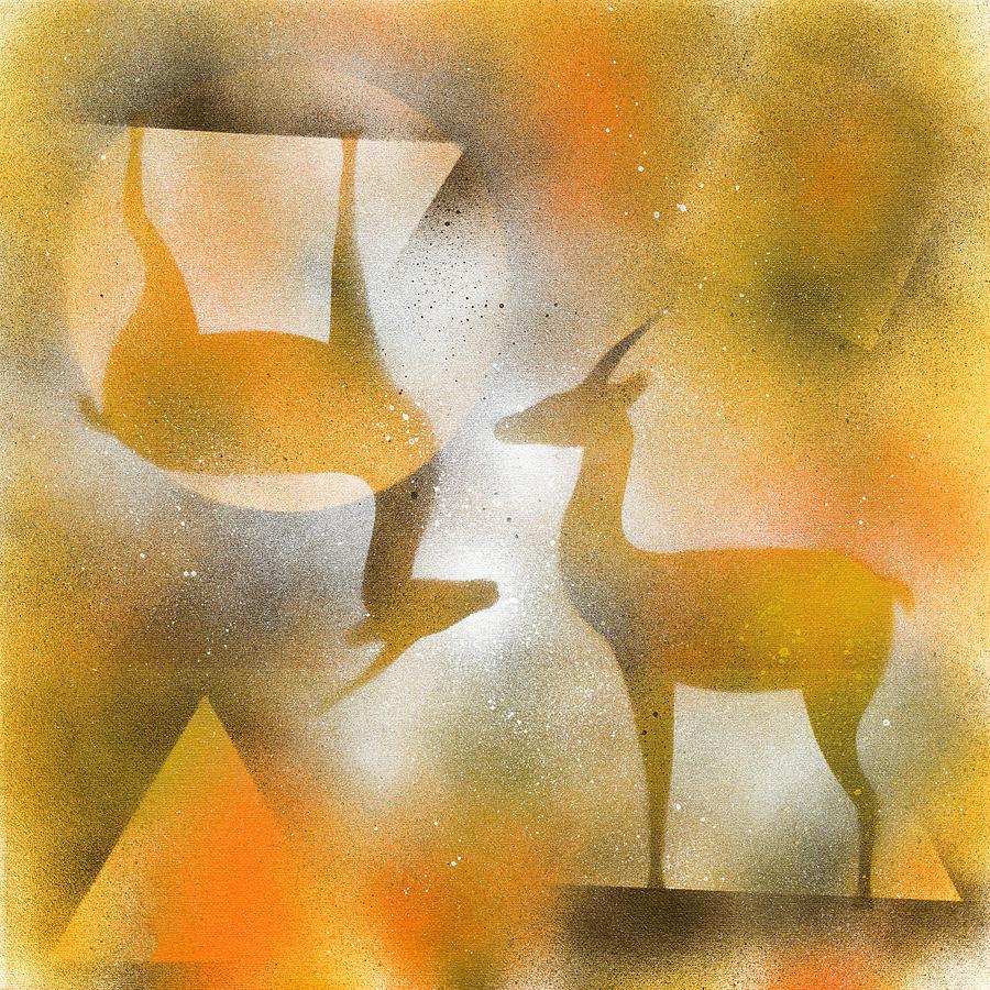 Gazelles Painting - Gazelles by Hakon Soreide
